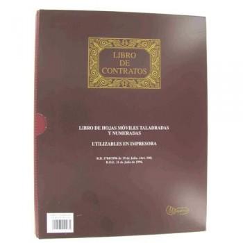 LIBRO HOJAS MÓVILES A4 100 HOJAS CONTRATOS 15 ANILLAS MIQUEL RIUS
