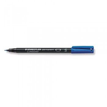 ROTULADOR PERMANENTE PUNTA S 0,4 MM AZUL LUMOCOLOR 313 SUPERFINO STAEDTLER
