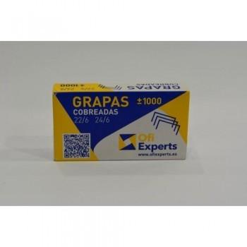 Grapas 22/6 cobreada caja 1000 unidades Ofiexperts