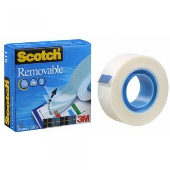 CINTA ADHESIVA INVISIBLE REMOVIBLE 33MX19MM. SCOTCH