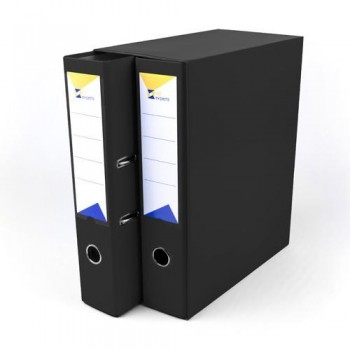 Módulo 2 archivadores folio 2 anillas 65 mm negro Ofiexperts