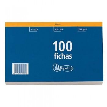 FICHAS 125 X 200  HORIZONTAL CON CABECERA ROJA MIQUEL RIUS