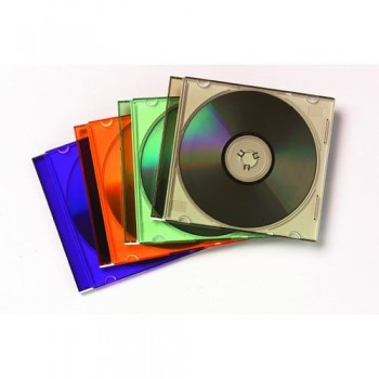 CAJA CD SLIM COLORES PAQUETE DE 25 FELLOWES
