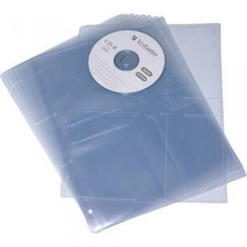 FUNDAS CD 1/8 PP LISO 110 MICRAS 2 TALADROS BOLSA 10 UNIDADES GRAFOPLAS