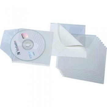 FUNDAS CD 1/8 PVC 150 MICRAS ADHESIVAS BOLSA 10  UNIDADES GRAFOPLAS