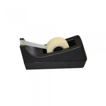 Portarrollos sobremesa cinta adhesiva pequeño plástico negro Ofiexperts