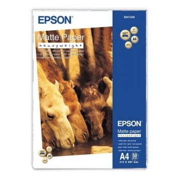 PAPEL FOTO A4 167 GR. 50 HOJAS MATE ALTO GRAMAJE EPSON S041256