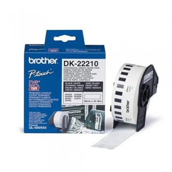 CINTA CONTINUA DE PAPEL BLANCA 29MM. X 30,48M PARA GAMA QL BROTHER