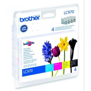 BROTHER CARTUCHO TINTA LC970VALBP 4 COLORES ORIGINAL