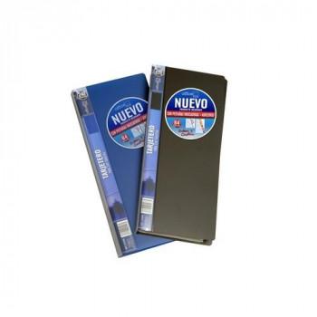 Tarjetero fijo lomo personalizable para 240 tarjetas negro Office Box