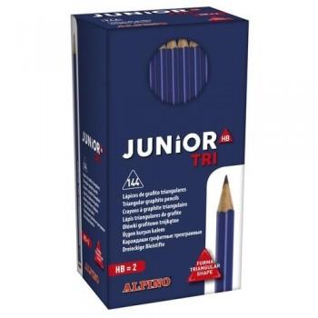 Lápiz grafito triangular Economy pack 144 un. Alpino Junior Tri