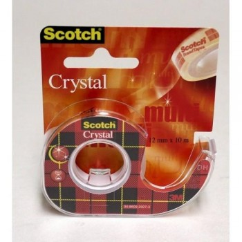 CINTA ADHESIVA 12MM X 10M SUPERTRANSPARENTE EN PORTARROLLOS SCOTCH BLISTER