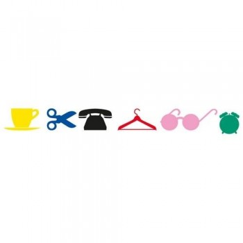 Gomets siluetas adhesivo permanente de colores surtidos Objetos de casa Apli