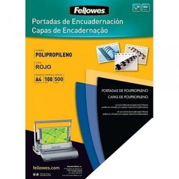 Tapas encuadernación A4 PP 500 micras rojo 100 un. Fellowes