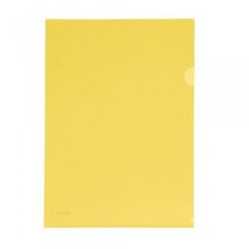 Dossier uñero A4 PP 250 micras 220x310 mm. amarillo transparente