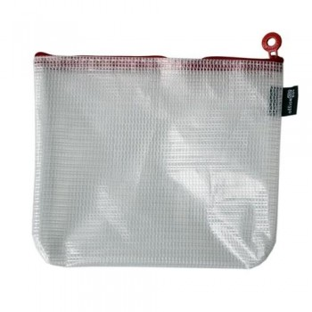 BOLSA MULTIUSOS CON CREMALLERA B6- 215 X 165 MM ROJA OFFICE BOX