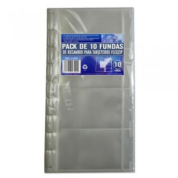 PAK DE 10 FUNDAS PARA TARJETERO FLEXZIP OFFICE BOX