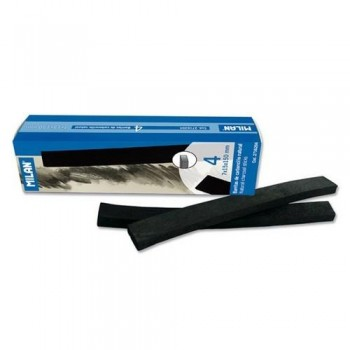 Carboncillo natural 7x15 mm caja 4 barritas Milan