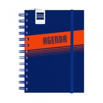 Agenda escolar 8º D/P Lisa azul Mini Institut Finocam catalán