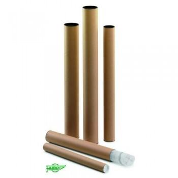 Tubo de cartón con tapa plástico 460 x 40 mm. Faibo