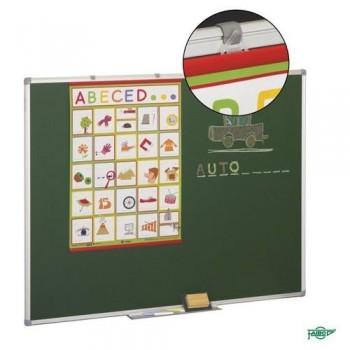 Pizarra estratificada verde antireflectante marco aluminio 122x300 cm Faibo