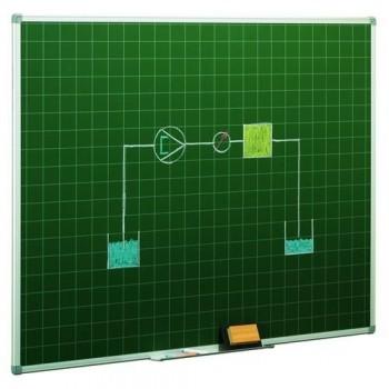 Pizarra estratificada verde preescolar cuadrícula 5x5cm 122x100cm Faibo