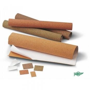 Corcho adhesivo para manualidades rollo 1000x450x1,2 mm Color pigmentado rojo Faibo