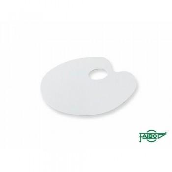 Paleta de plástico ovalada lisa 220x170mm Faibo.