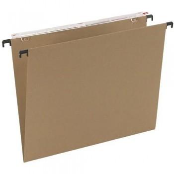 Carpeta colgante Folio Kraft lomo V visor superior lagro Grafoplas