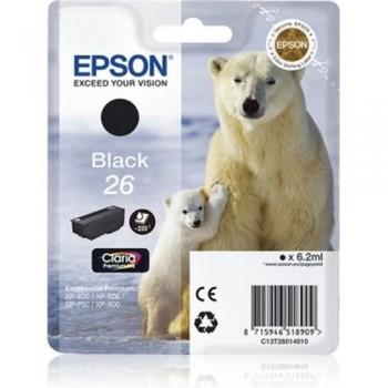 EPSON CARTUCHO TINTA C13T26014010 Nº 26 NEGRO
