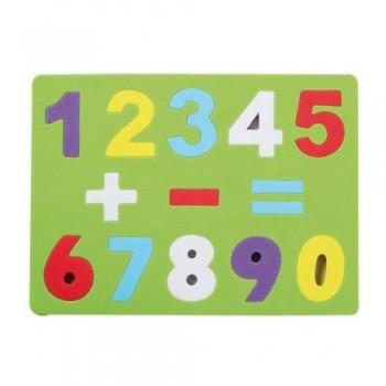 Puzzle goma EVA números y signos 19x26x0,7 cm Smart