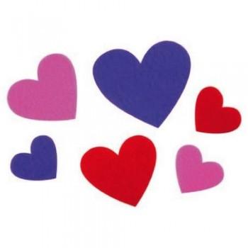 Figuras fieltro adhesivas corazones pack 30 un. Fixo Kids