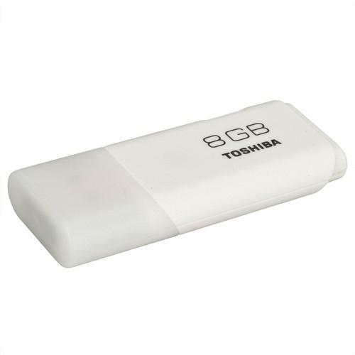 MEMORIA USB HAYABUSA BLANCO 8 GB TOSHIBA CON TAPON