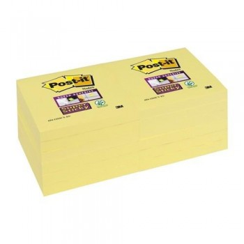 NOTAS ADHESIVAS 76X76MM COLOR AMARILLO CANARIO SUPER STICKY POST-IT