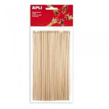 Palo redondo madera pincho 200x5mm 50 un. Apli