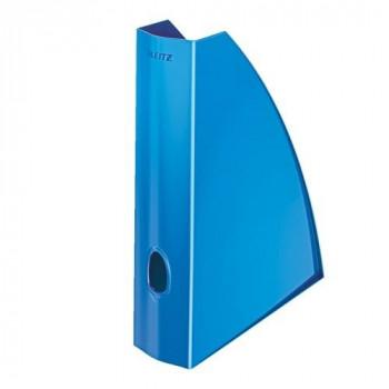 Revistero A4 Leitz WoW formato vertical lomo 60 azul metalizado