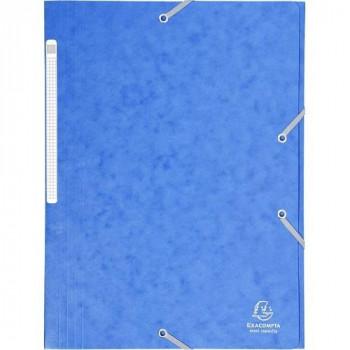 Carpeta gomas A4 3 solapas cartón azul Maxi Capacity Exacompta