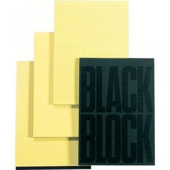 BLOC NOTAS A4 70 HOJAS AMARILLAS RAYADA BLACK BLOCK EXACOMPTA