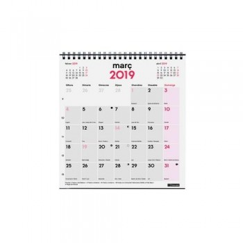 CALENDARIO SOBREMESA XS 140X150MM. DOBLE ESPIRAL  CATALÁN FINOCAM