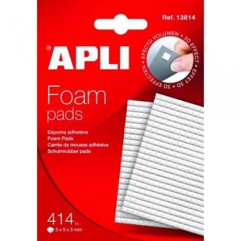 Pastillas Foam pad blanco de 5x5 mm adhesivas Apli