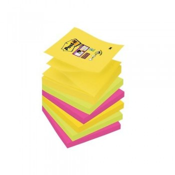 NOTAS ADHESIVAS Z-NOTAS SUPER STICKY 76X76 MM. PACK DE 6 BLOCS COLORES RIO DE JANEIRO POST-IT