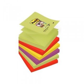 NOTAS ADHESIVAS Z-NOTAS SUPER STICKY 76X76 MM. PACK DE 6 BLOCS COLORES MARRAKESH 6 BLOCS POST-IT