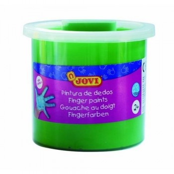 Pintura dedos bote 125 ml. color Verde Jovi