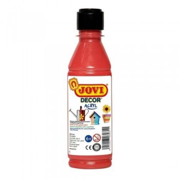 Pintura multisuperficie botella 250 ml. color Bermellón JOVIDECOR