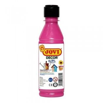 Pintura multisuperficie botella 250 ml. color Magenta JOVIDECOR