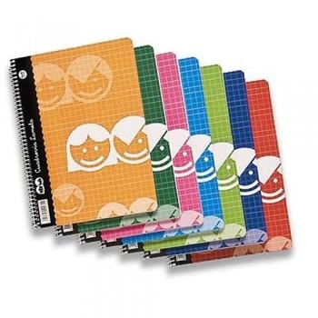 Cuaderno folio 80 hojas 70 gr Tapa cartón cuadrícula 4 mm Lamela Basic