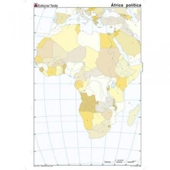 Mapa mudo color A4 político AFRICA