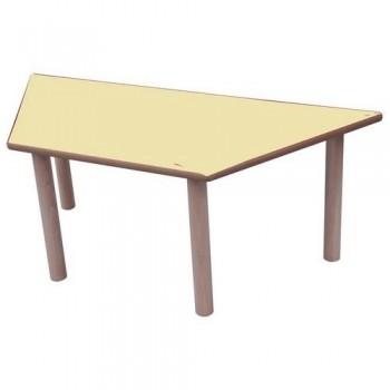 Mesa infantil trapecio madera haya y sobre haya 120x60 cm altura 46 cm Mobeduc