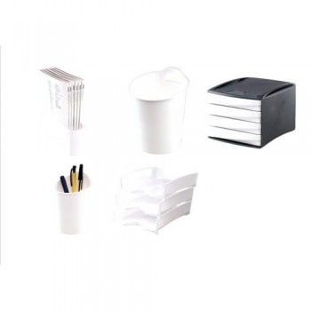 SET DE ACCESORIOS DE ESCRITORIO GREEN2DESK BLANCO FELLOWES