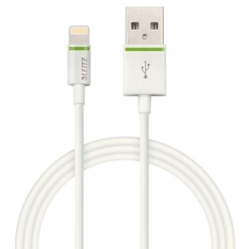 CABLE LIGHTNING APPLE A USB 1 M BLANCO COMPLETE DE LEITZ